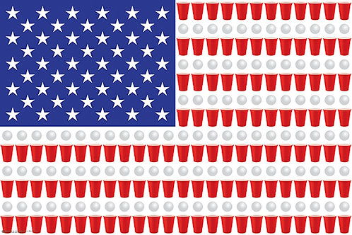 The United States of Beer Pong [Poster]