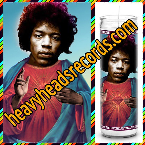 Jimi Hendrix Celebrity Prayer Candle