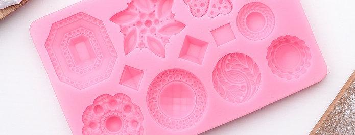 """Молд """"Цветочное украшение"""", цвет розовый"""