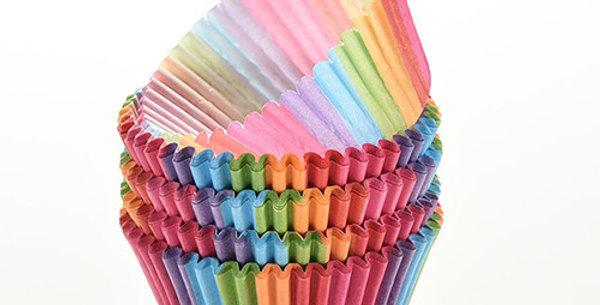 Капсулы бумажные для кексов РАДУГА