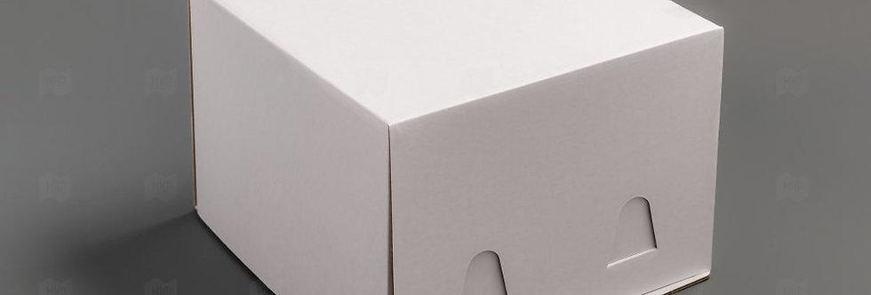 Коробка для торта без окошка  240*240*180 мм (белая) гофрокартон