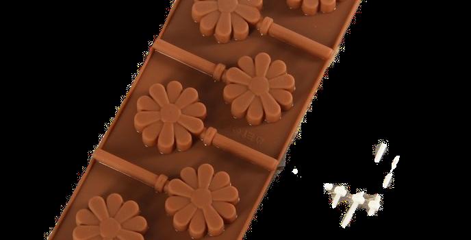 """Форма для леденцов и шоколада  """"Ромашка"""", 6 ячеек, палочки в комплекте"""