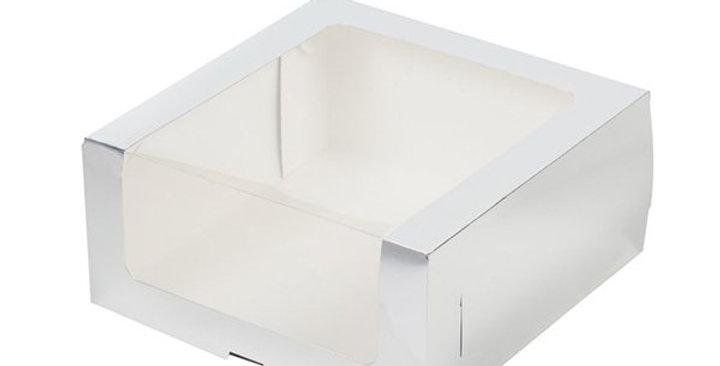 Коробка для торта с увеличенным окошком 235*235*110 мм