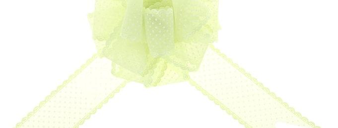 "Бант-шар №3,8 ""Крапинка"", цвет зелёный"