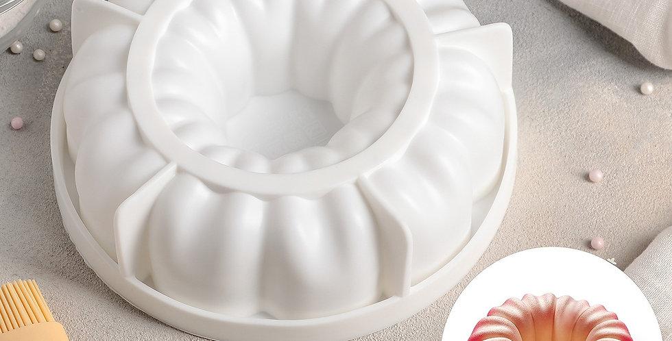 """Форма для выпечки и муссовых десертов """"Немецкий кекс"""" 19х5,5 см, вн.d 17см"""