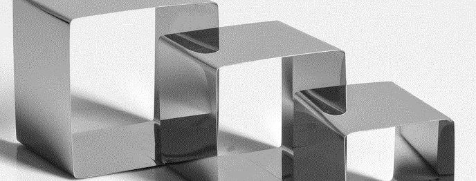 """Набор форм для выпечки""""Квадрат""""3 шт.6,3/8,3/10 см"""
