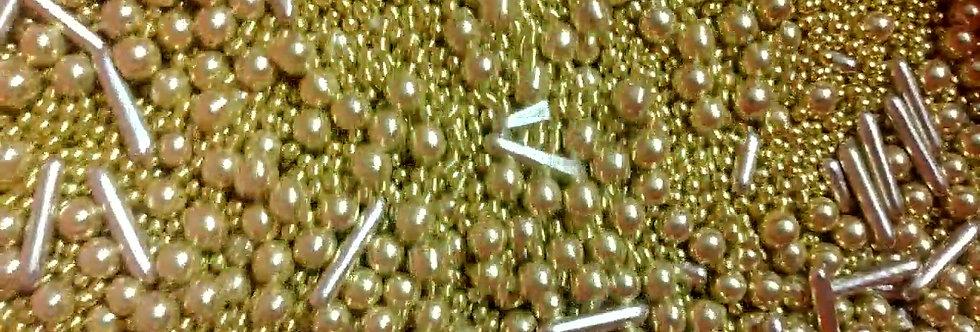 Декор для кондитерских изделий в виде блестящих шариков  цвет золото