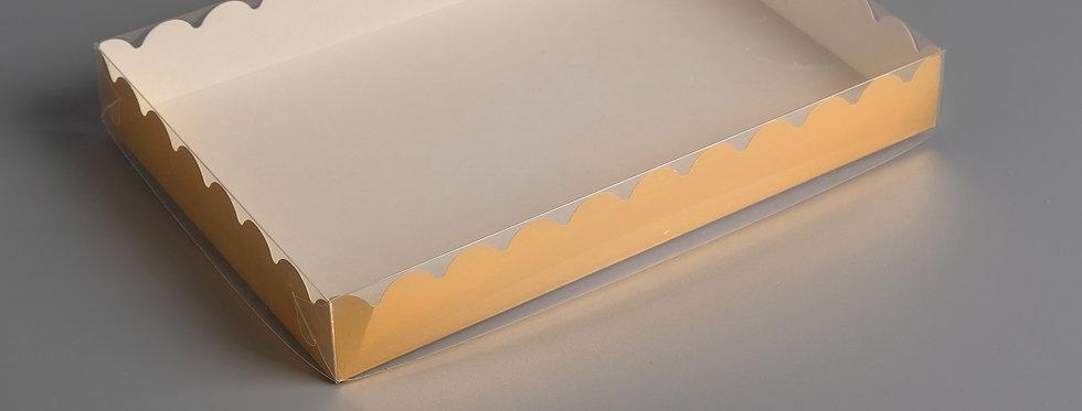 Коробочка для пряников , крафт, 22 х 15 х 3 см