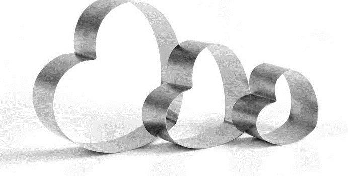 """Набор форм для выпечки и выкладки """"Сердце"""", 20 х 20 х 8,5 см, 3 шт."""