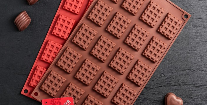 "Форма для мастики и шоколада 20 ячеек 17х30х1 см ""Вафли"""