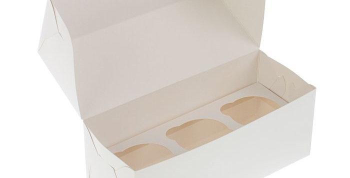 Коробка   под 3 капкейка 250*100*100 мм
