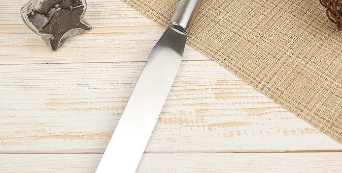 Лопатка-палетка с металлической ручкой, прямая, 32,5х3x1,8 см