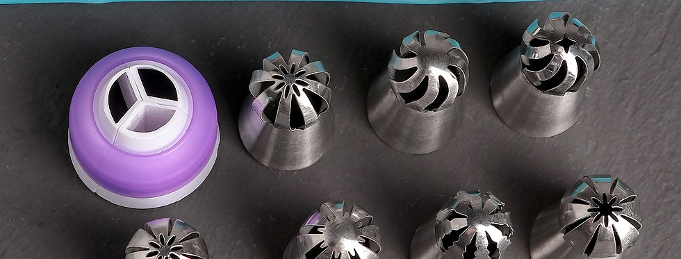 Набор кондитерский, 9 предметов валаны /мешок 7 насадок (диаметр основания 3 см)