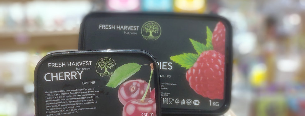 Фруктовое натуральное  пюре Малина  Fresh Harvest 0.25
