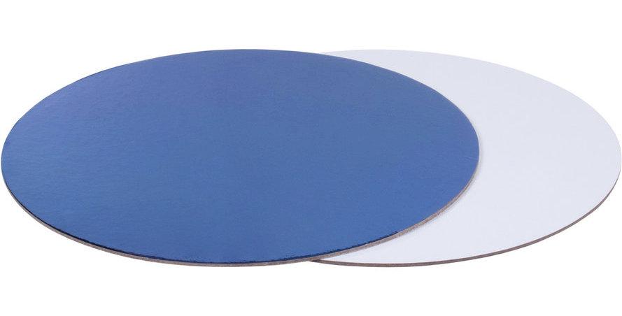 Подложка для торта круглая (синяя, белая) d 30 см