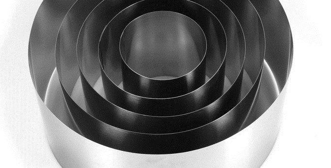 "Набор форм для выпечки и выкладки ""Круг"", 30 х 30 х 14 см, 5 шт."