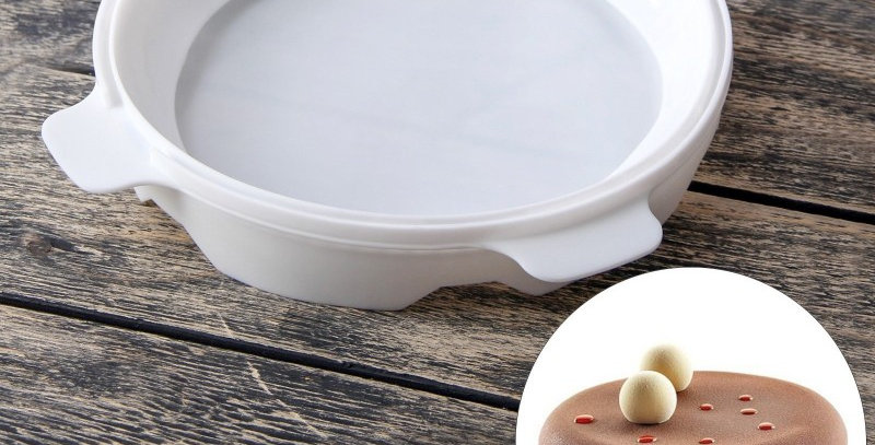 """Форма для выпечки и муссовых десертов 16х5,5 см """"Круг"""", цвет белый"""