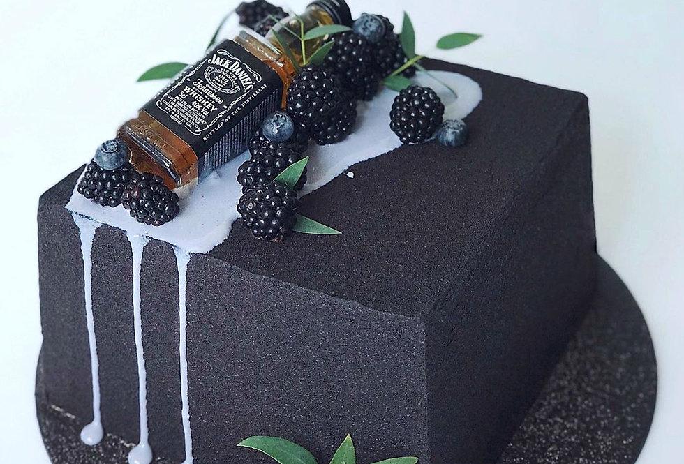 Шоколадный  ВЕЛЮР черный