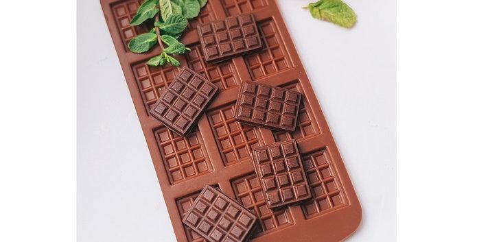 Форма для льда и шоколада  мини Плитка шоколадки