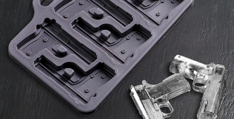 Форма для карамели  и шоколада «Пистолет», 18,7×13,4 см, 6 ячеек (7,5×5,1 см)