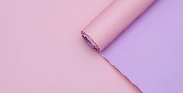 "Пленка для цветов  ""Полибумага"", матовая, сиреневый-розовый, 0,6 х 5 м"