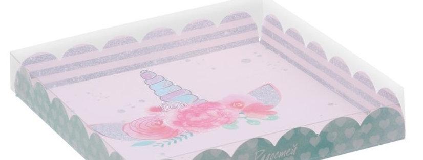 Коробка для пряников «Единорог», 21 × 21 × 3