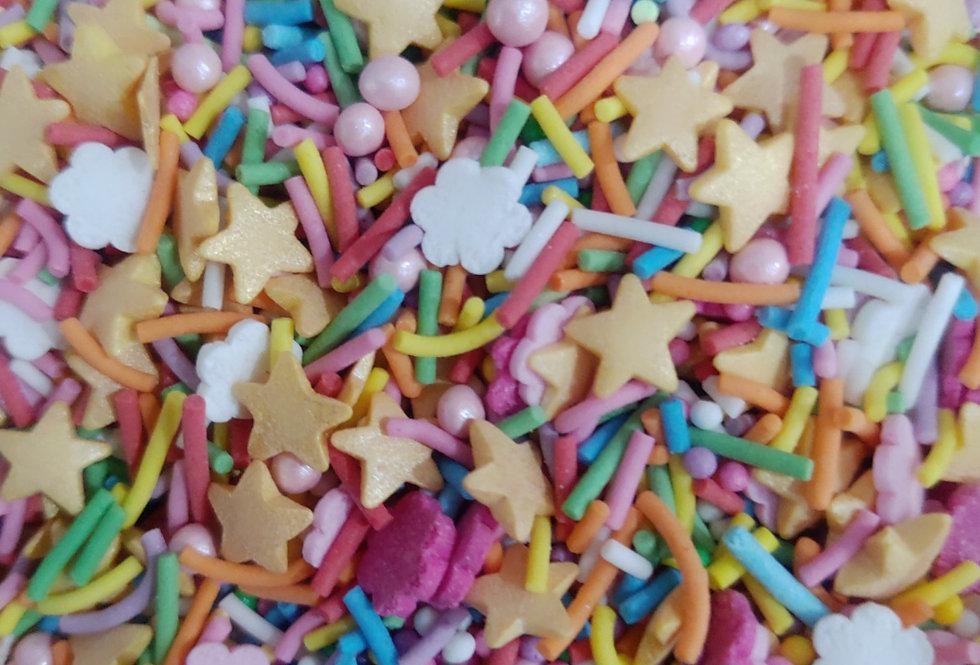 Яркий праздничный микс со звездочками 100 гр