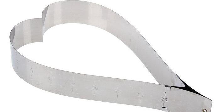 Форма трансформер для выпечки с регулировкой размера 37х14-19 см, высота 5 см