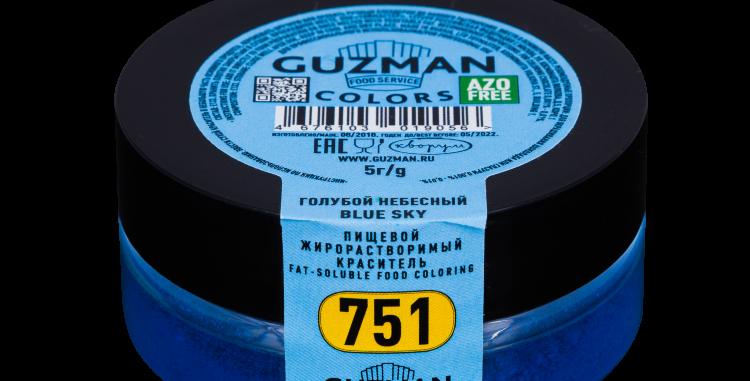751 Голубой небесный — жирорастворимый краситель GUZMAN — 5г