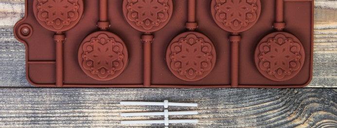 """Форма для шоколада и леденцов ,  """"Морозко"""" с палочками"""
