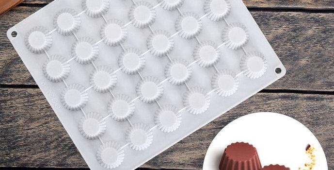 """Форма для льда и шоколада """"Круг. мини кекс"""""""