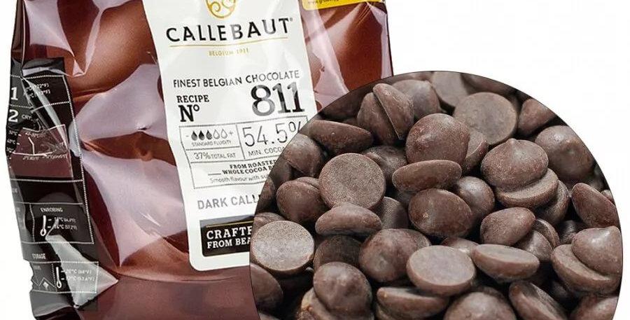 Шоколад темный Callebaut 811 в галетах (54,5% какао)