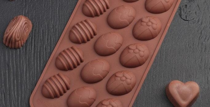Форма для льда и шоколада 22×10,5 см «Пасхальные яйца»