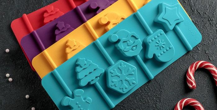 """Форма для леденцов и шоколада  24×9,5 см """"Новогодний подарок"""", 6 ячеек, цвет МИ"""