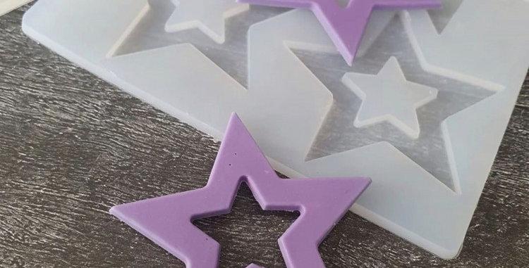 Форма Звезды для украшения тортов силиконовая форма