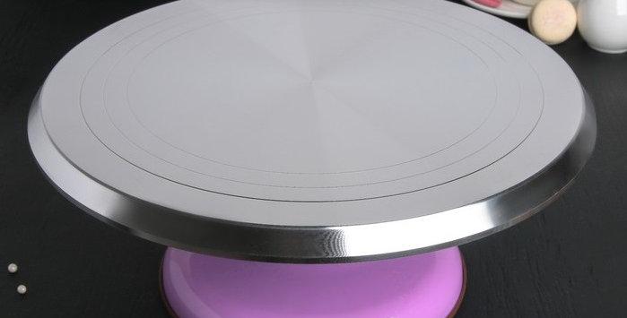 """Подставка для торта """"Поворотный столик """"железная 31х12,3 см"""