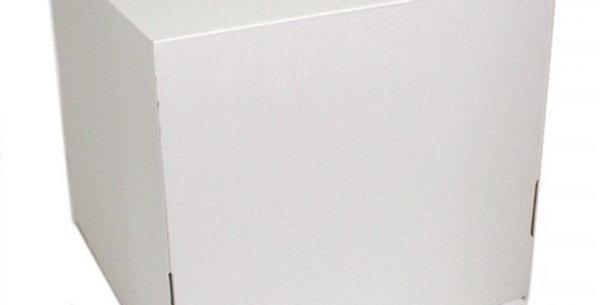 Коробка 240*240*240 мм для торта с окошком, (белая) гофрокартон