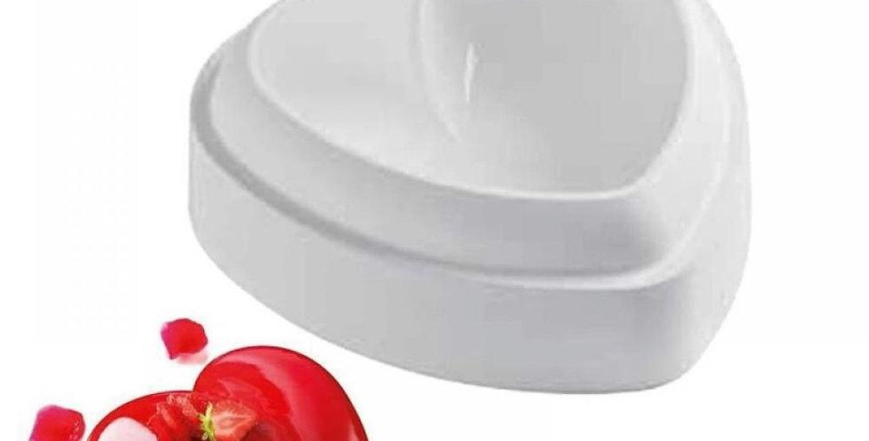 Форма для выпечки и муссовых десертов «Сердце», 19×19×6 см, цвет белый