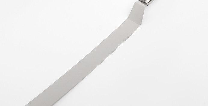 Лопатка-палетка с металлической ручкой, изогнутая, 36,5х3x2,5см