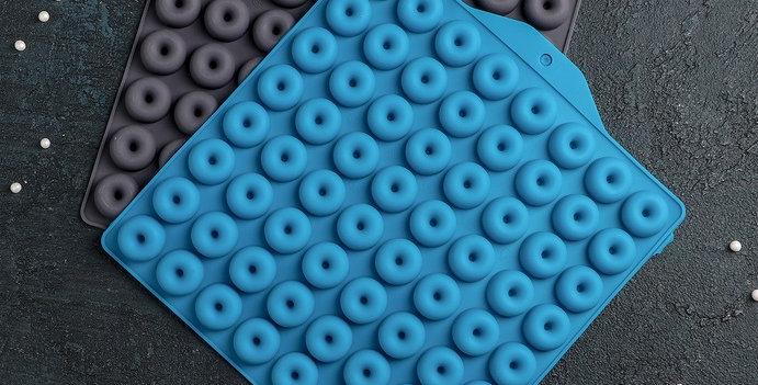 Форма для мармелада «Пончики», 64 ячейки (d=2 см)