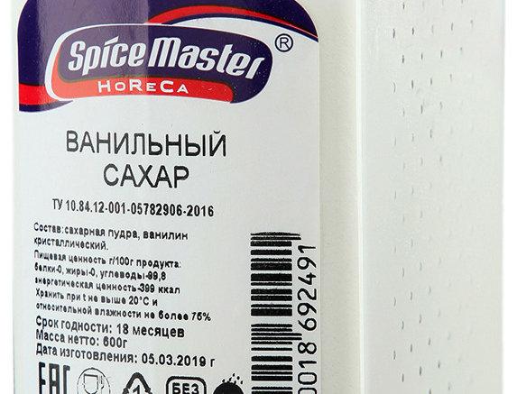 САХАР ванильный 600 г,SPICE MASTER,РОССИЯ