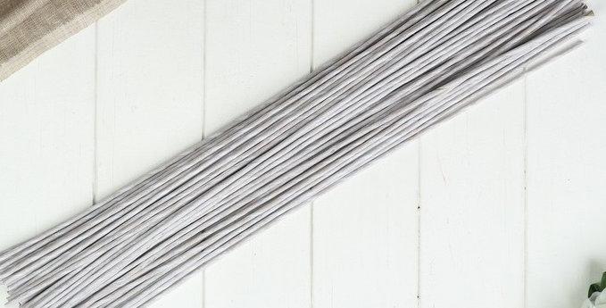 """Проволока для изготовления искусственных цветов """"Белая"""" 60 см сечение 4 мм"""