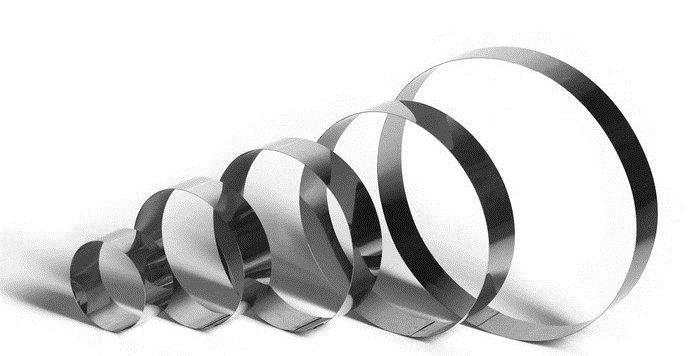 """Набор форм для выпечки и выкладки """"Круг"""", 30/25/20/15/10 5 см, 5 шт."""