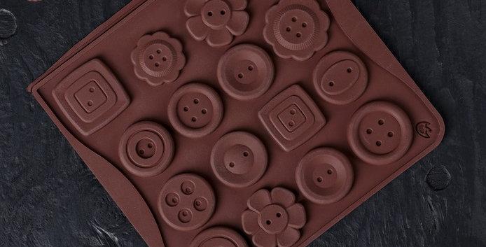 "Форма для  шоколада ""Пуговки"", 19 ячеек"