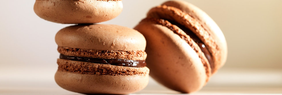 Макарон из темного шоколада. рецепт
