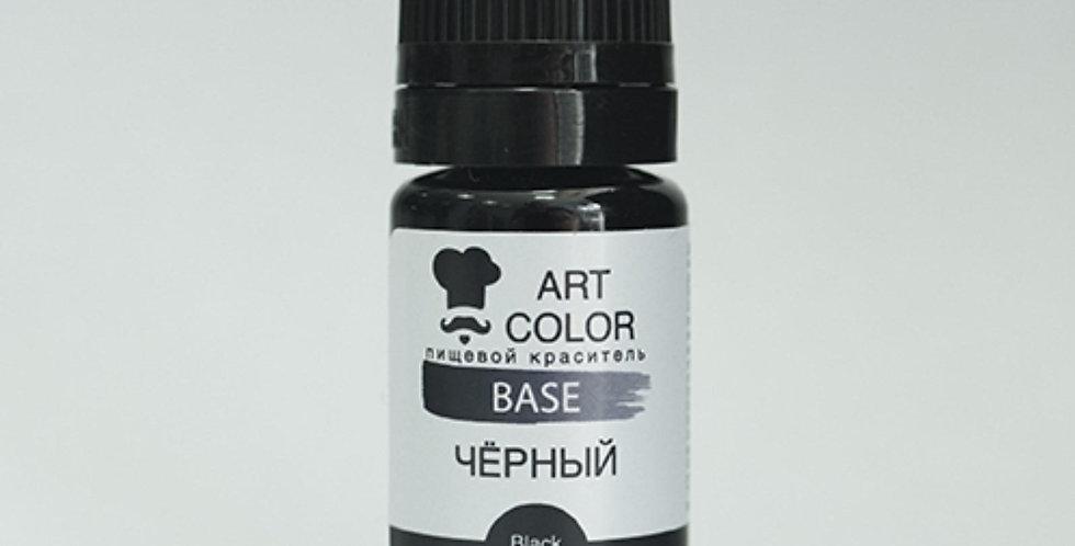 Черный (Art Color Base) (10мл) гелевый краситель
