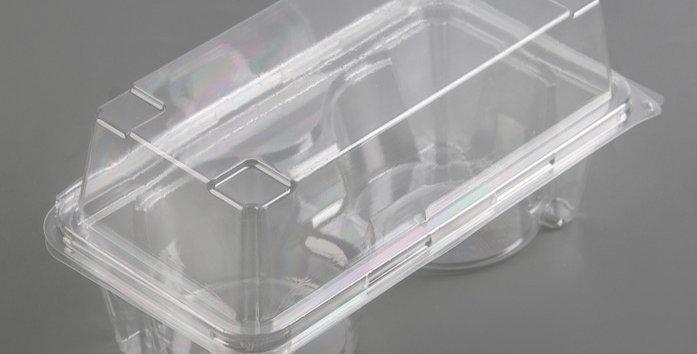 Контейнер для маффинов или  на 2 кекса, 18,8х13,8 см