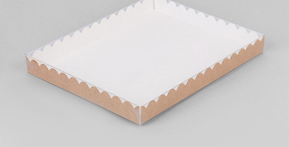 Коробочка для печенья и пряников  крафт 23,5 х 30 х 3 см