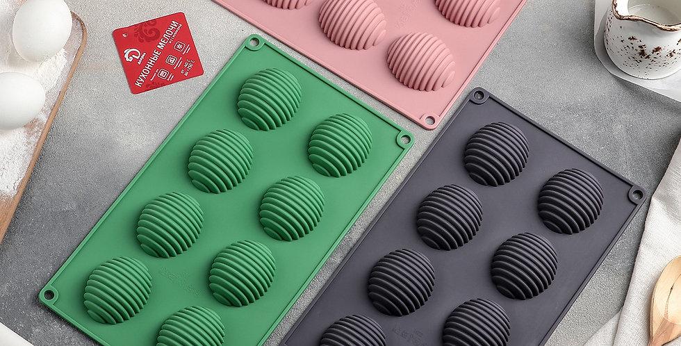 """Форма для шоколада """"Яйцо пасхальное рельефное"""" 28х17х3 см (5,5х4,5 см) цв"""