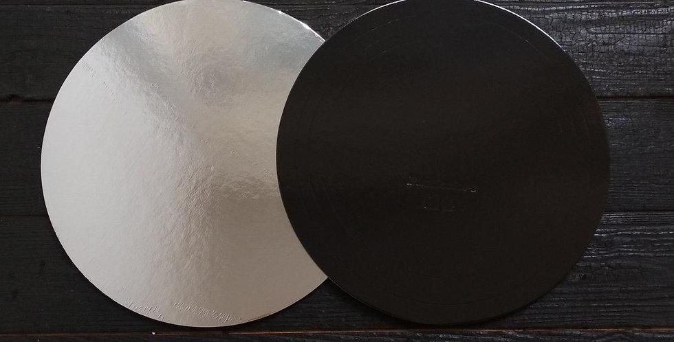 Подложки усиленные чёрные-серебро двухсторонние (1,5 мм)